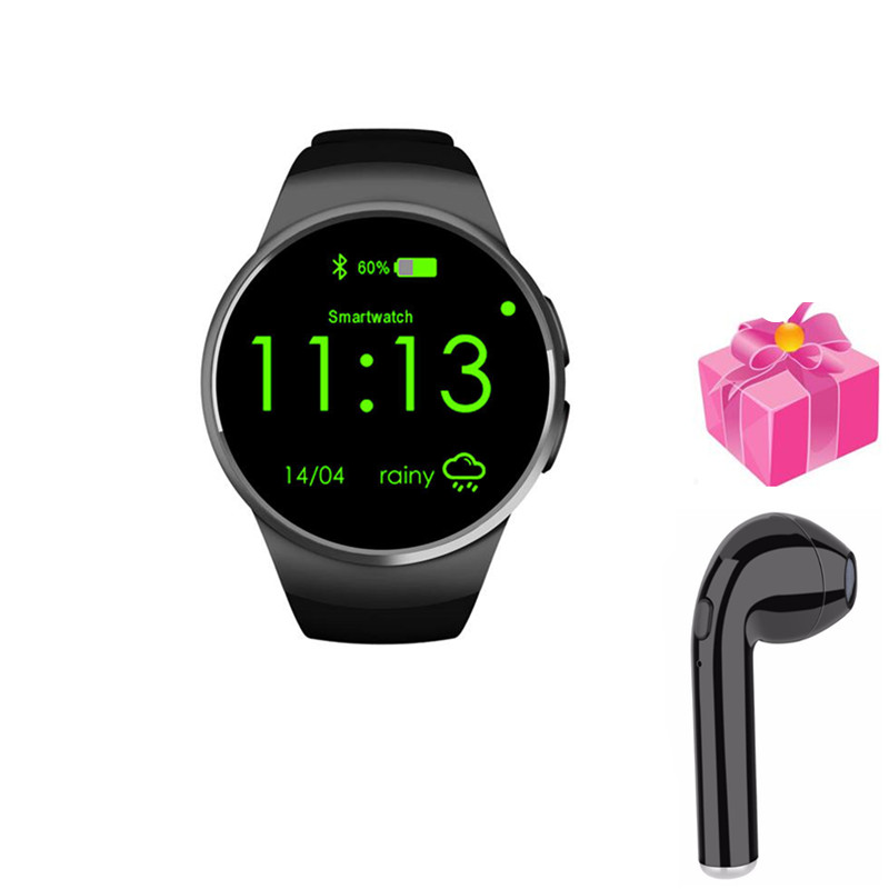 smart watch Kingwear kw18 pk kw28 kw88 s99a y1 with heart rate monitor smart phone fitness tracker for ios Android+free headset цены