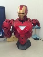 2016 Новый горячий 46 см смолы Капитан Америка: Гражданская война Мстители Железный человек MK6 бюст Скульптура становятся блестящими фигурку и
