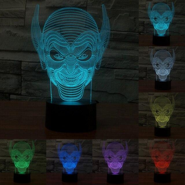 Lange Oren Monster 7 Kleurrijke 3D Acryl Lamp Licht USB Touch Visuele Van De Nachtverlichting Vakantie Lamp Mood Lamp IY803599