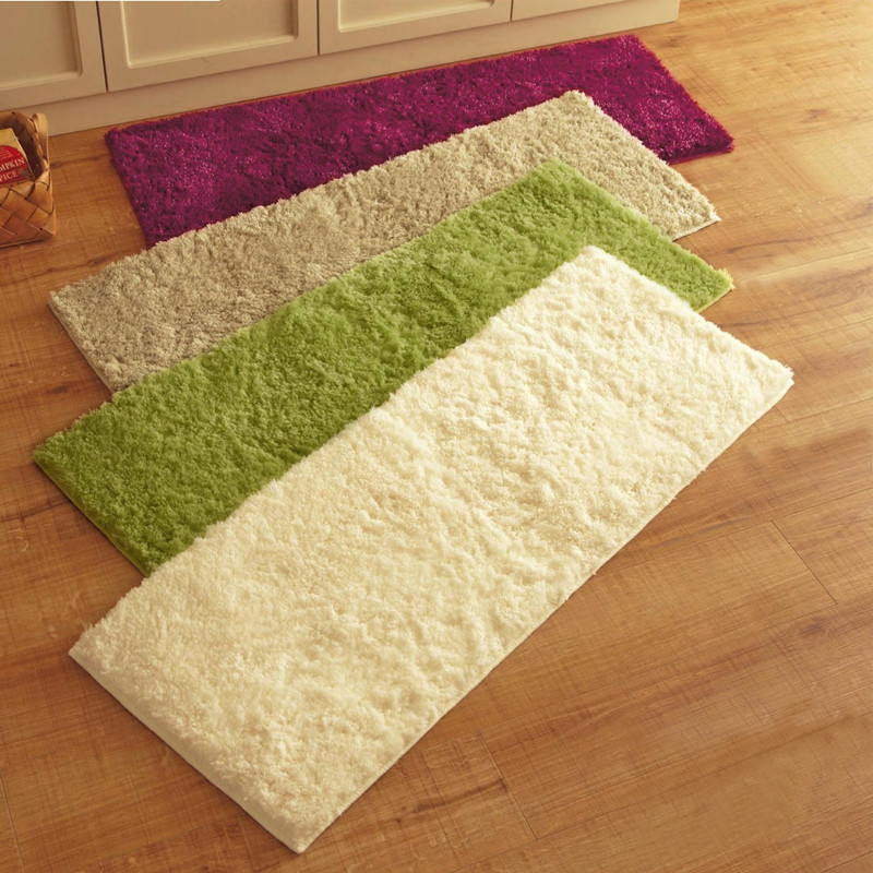 Plush Fabric Solid Thicken Soft Carpet Area Rugs Slip Resistant Floor Mats  For Living Room Bedroom Decorative Home Supplies