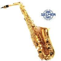 High Quality France Henri Selmer Bb Tenor Saxophone Instruments Super Action 80 Series II Brass Gold