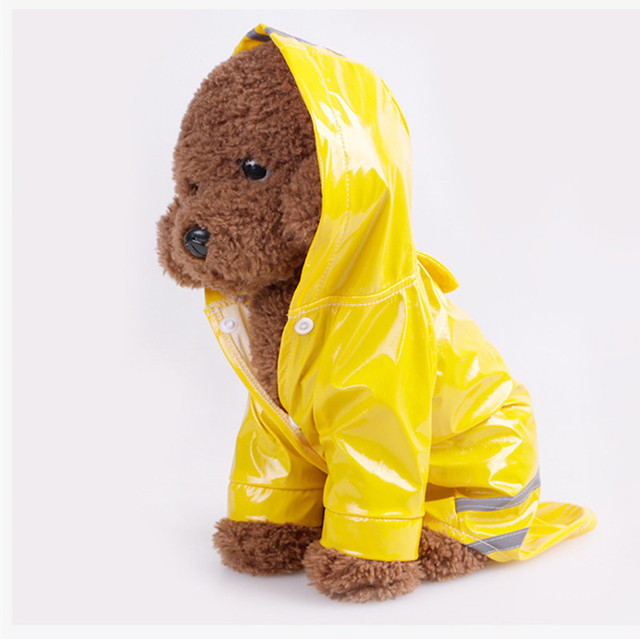 Pet Clothes Dog Raincoats PU Reflective With cap Windproof Puppy Cat Clothing Small Dog costume Pet Accessories Supplies product 3