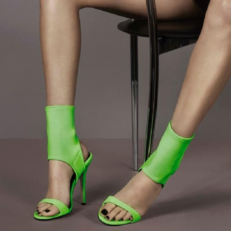 New Hot Woman Boots Summer Fashion Shoes Woman Stretch Fabric Sock Boots Peep Toe Slingback Shoes Sexy High Thin Heels GladiatorNew Hot Woman Boots Summer Fashion Shoes Woman Stretch Fabric Sock Boots Peep Toe Slingback Shoes Sexy High Thin Heels Gladiator