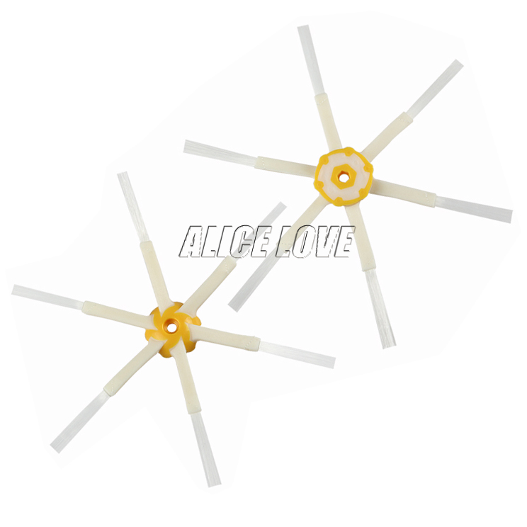 6x Side Brush 6-armed for iRobot Roomba 500 600 700 Series 550 560 630 650 760 770 780 Vacuum Cleaner Accessories Parts