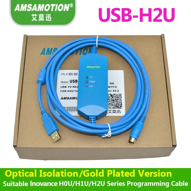 Suitable Inovance H0U H1U H2U Series PLC Programming Cable Download Cable USB H2U 1U 0U