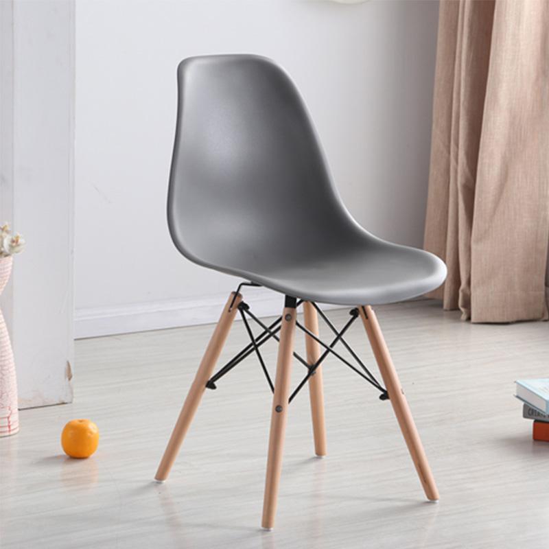 Скандинавский обеденный стол и стулья, современный минималистичный креативный компьютерный офисный стул, повседневный домашний пластиковый кофейный стул - Цвет: Style 10