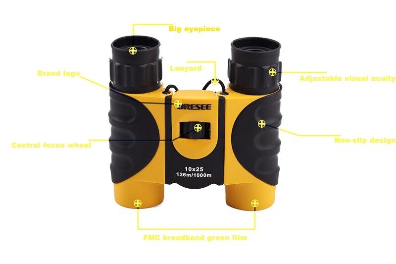 Free shipping 10X25 waterproof binoculars telescope for travel binoculars hot selling Travelling Camping Telescope Bird Watch in Monocular Binoculars from Sports Entertainment