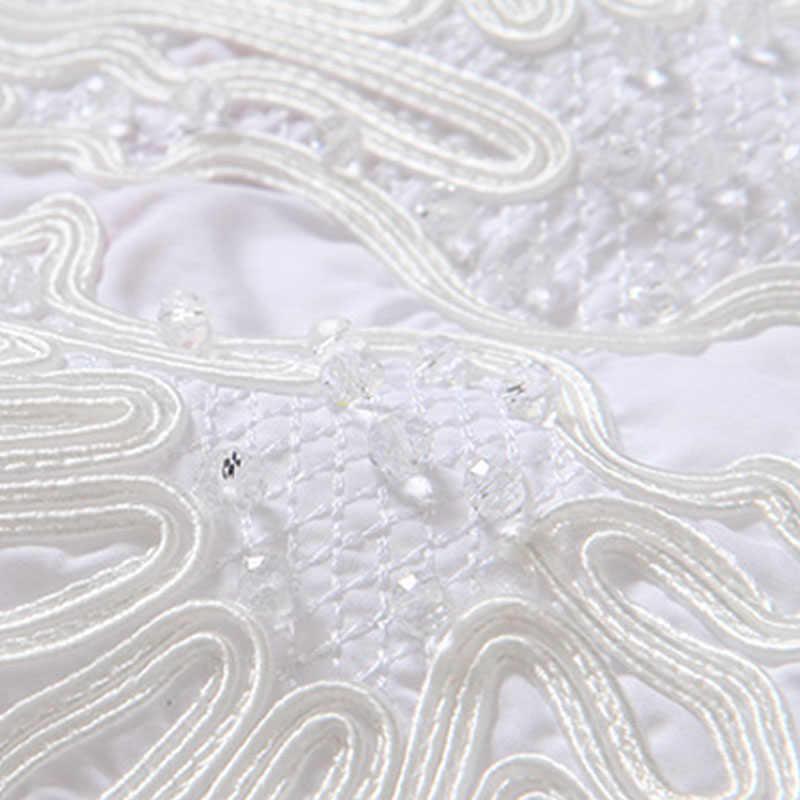 L/XL/XXL White Women Lace Embroidery Blouses Plus Size Fashion Summer Tops Ladies Big Size Brand Short Cotton Shirt Y876