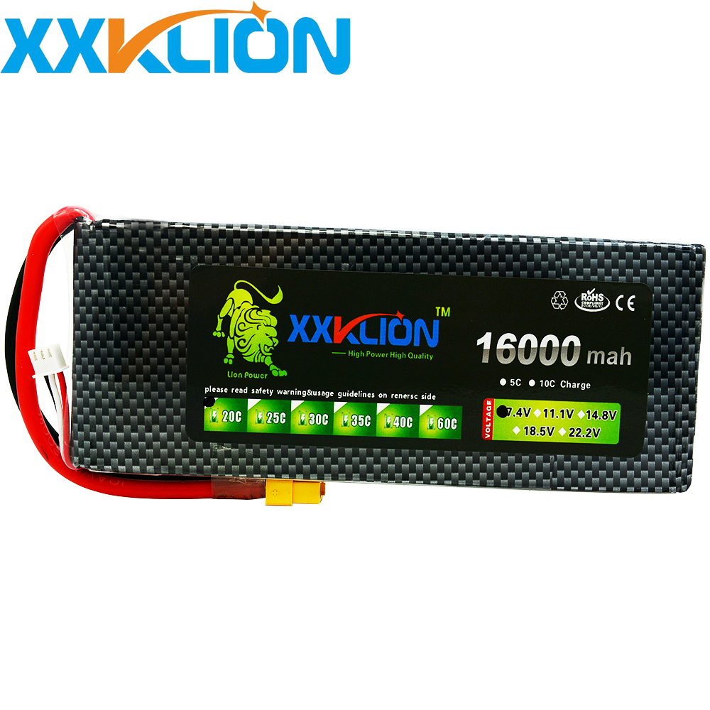 XXKLION drone Lipo battery pack 7.4v 16000mAh 20C 2S for rc airplane Aerial multi - axis unmanned aerial vehicle Free ShippingXXKLION drone Lipo battery pack 7.4v 16000mAh 20C 2S for rc airplane Aerial multi - axis unmanned aerial vehicle Free Shipping