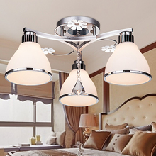 LED ceiling lamp modern 3/5 heads crystal lamp creative master bedroom light dining room warm romantic lamp living room lamp ZA