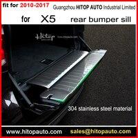 Partita per X5 posteriore paraurti sill copertura/tronco soglia/scuff piastra di copertura, ISO di fabbrica di alta qualità. trasporto libero ai paesi Asiatici.