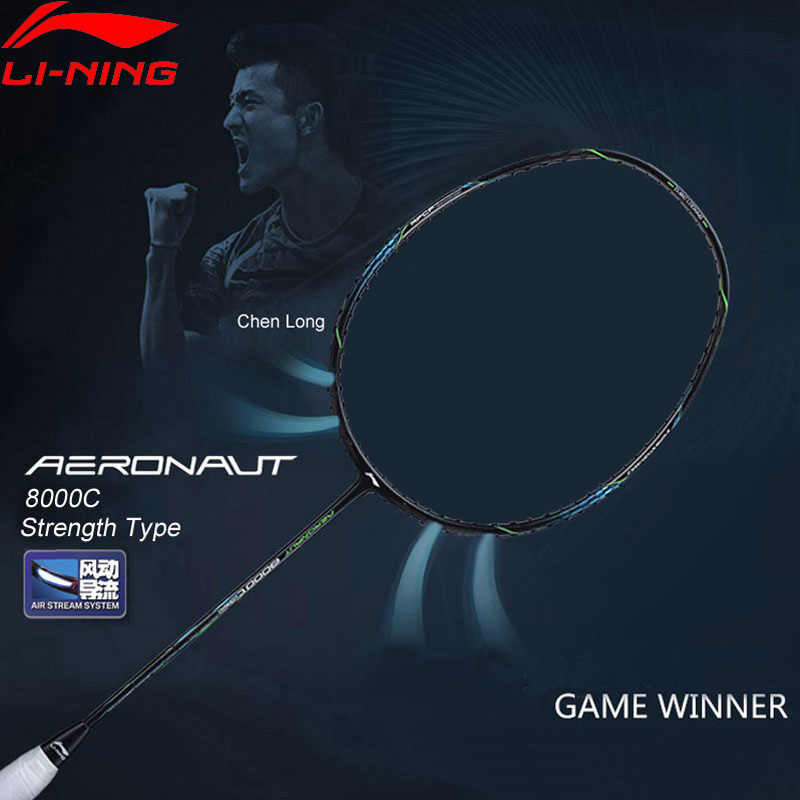 Li-Ning AERONAUT 8000C Badminton Racket Strength Type Professional High Tension LiNing Single Racquet AYPN216 ZYF329