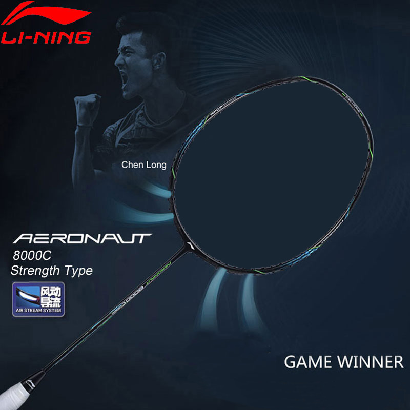 Li-Ning AERONAUT 8000C Badminton Racket Strength Type Professional High Tension LiNing Single Racquet AYPN216 ZYF329