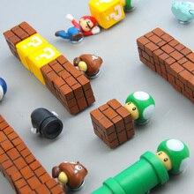 63Pcs 3D Super Mario Bros. ตู้เย็นแม่เหล็กตู้เย็นสติกเกอร์ข้อความตลกเด็กผู้หญิงเด็กเด็กนักเรียนของเล่นวันเกิดของขวัญ