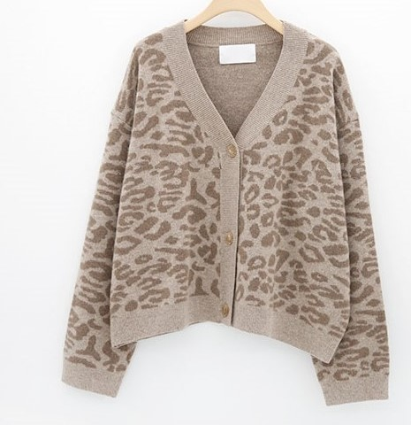 Women Autumn Winter Leopard Cardigan Sweater coat Female Long Sleeve plus size Outer Knitted tops pull Femme jersey sueter 15