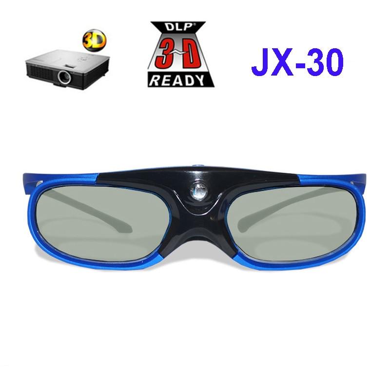 479dadd72 Recarregável 3D Óculos de Obturador Ativo 1 pc Para Xgimi Z3/Z4/H1 Nozes  G1/P2 BenQ Acer optoma Hitachi & Todos Os Projetores DLP de LINK