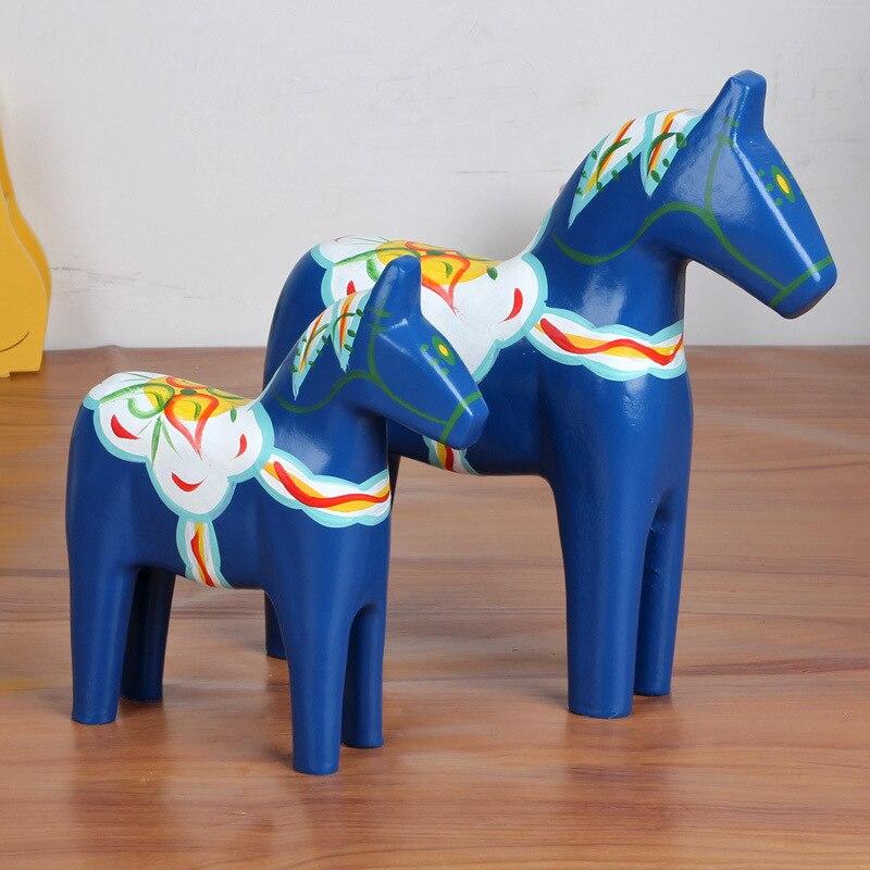 2pcs/set Personalized Horse Ornaments Painted Decoracion Hogar Horse Artesanato Living Room TV Cabinet Home Decor Figurine|horse ornaments|horse figurine|horse set - title=
