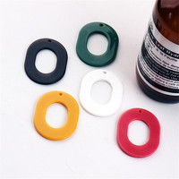 Wholesale 50PCs 40 30MM PBC Resin Plastic Acrylic Hollow Out Oval Round DIY Jewelry Pendant Charms