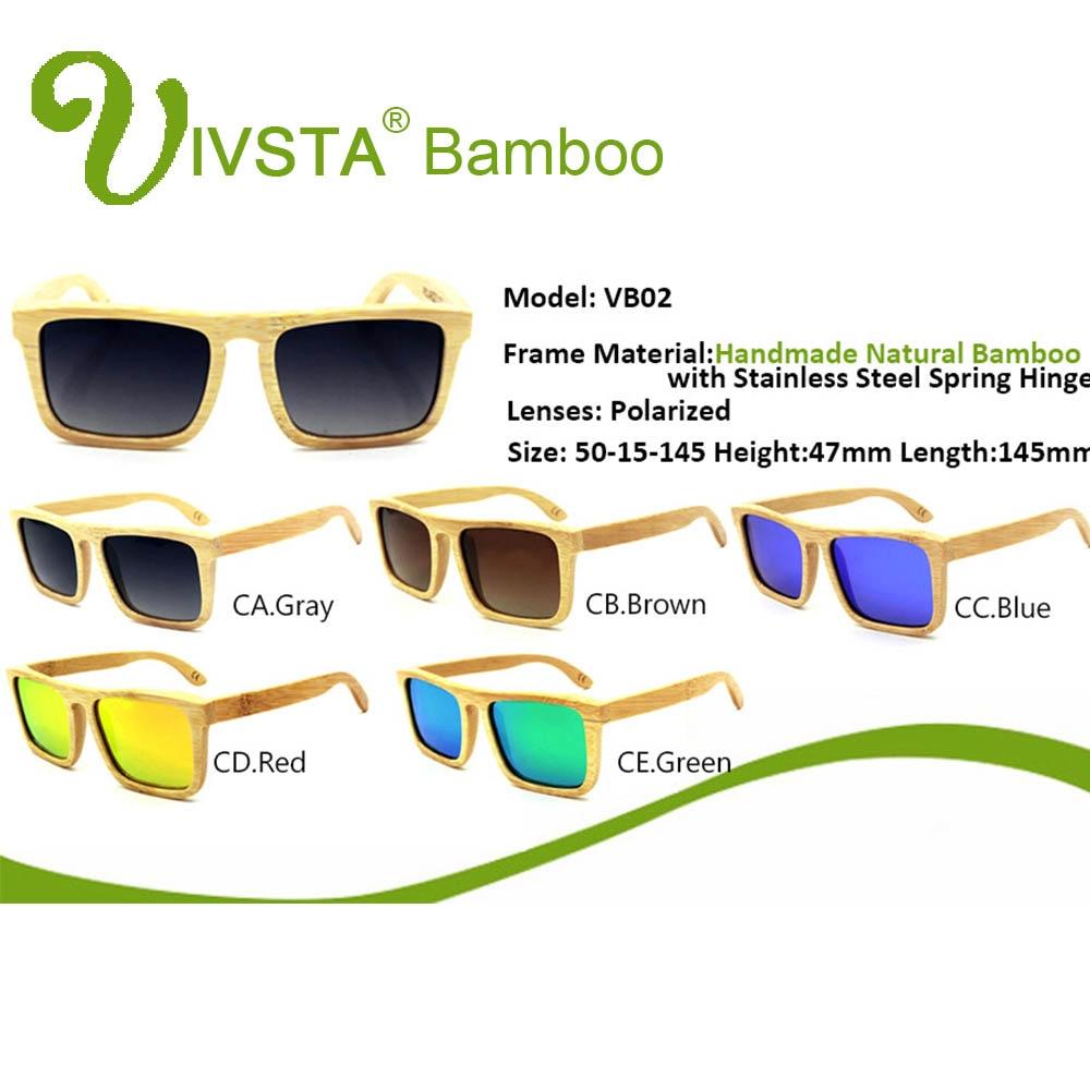 IVSTA Kayu Bambu Kacamata Laki-laki Kacamata Kayu Terpolarisasi - Aksesori pakaian - Foto 2