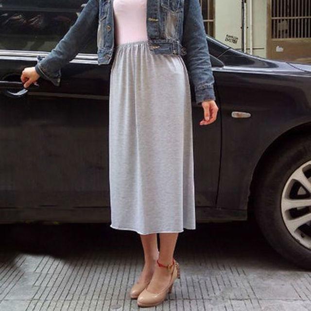 Woman Half Slips Modal Solid Skirt Petticoat Knee Length dress Lady Underskirts Vestidos Summer Cheap Skirts Underdress Summer