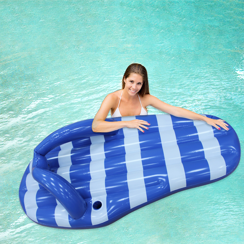 180cm Giant Inflatable Flip Flop Pool Floats Blue Marine Slipper