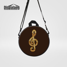 Dispalang Kids Small Round Backpack For Preschoolers Musical Note Printing School Bags For Boys Girls Children Mochilas Rucksack