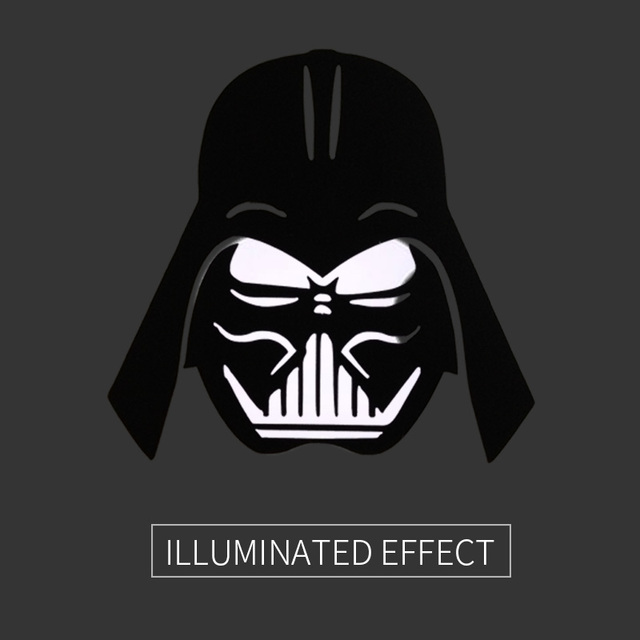 Star wars darth vader head 2 in1 set laptop decal sticker for apple macbook air pro