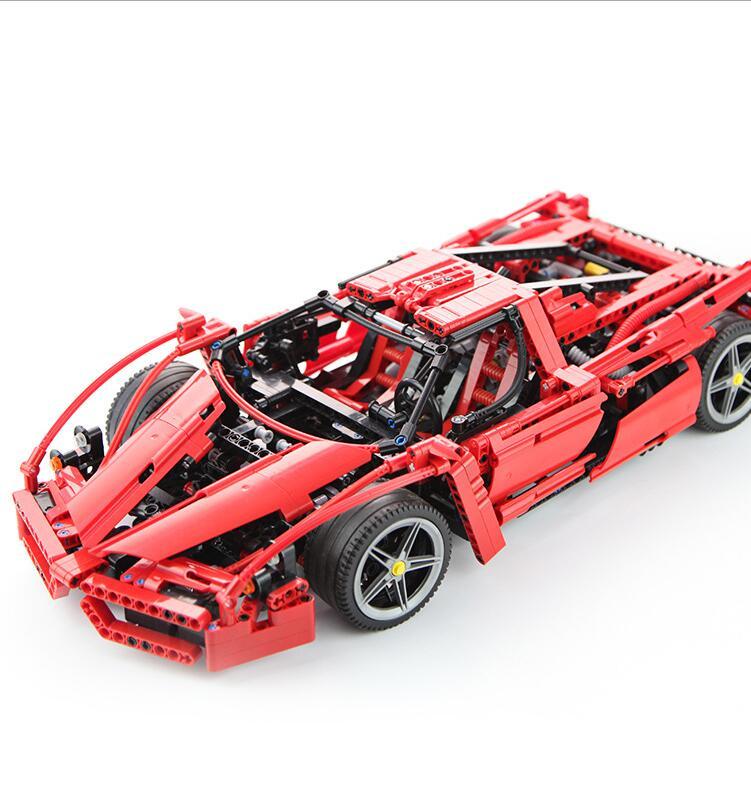 9186 Enzo 1:10 Modèle De Voiture Building Block Sets 1359 pcs Éducation Jigsaw DIY Construction Briques brinquedos Cadeau 8653