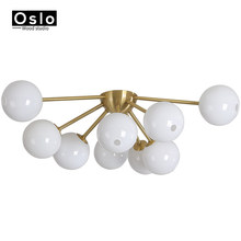 Nordic Creative Luminaire Ceiling Lamp Bedroom Chandelier Lighting Modern LOFT Glass Ball for Home Ceiling Lamp Light Fixtures(China)