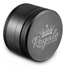2.5 Inch Royale Metal Herb Grinder 4 Piece with Free Pollen Press & Catcher Shipping