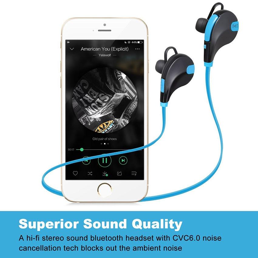 Aimitek Bluetooth Earbuds Sports Headsets CSR Wireless Headphones Stereo Handsfree Earphones with MIC for iPhone Smartphones 4