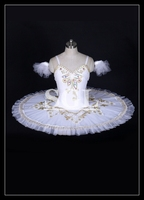 Adult Ballet White Tutu Skirt Ballet Dance Costumes Girls/Child/Kids Ballet Tutus For Competition Snow Queen 10 Layers AT1037