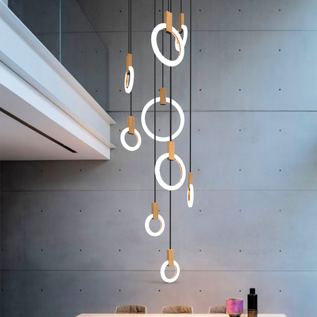 Nowoczesny Led żyrandol Nordic Salon Lampa Wisząca Sypialnia