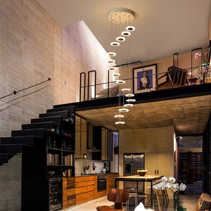 Image 4 - Modern LED avize oturma odası kolye lamba yatak odası armatürleri merdiven asma işıklar restoran asılı aydınlatma armatürü