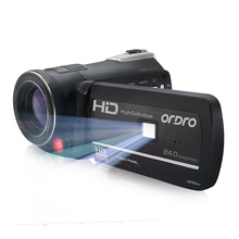 Ordro HDV-D395 Full HD Digital Camcorder With Night Vision IR 1080p Built-in Wifi Video Camera DV 3 Inch LCD LED Fill Lights