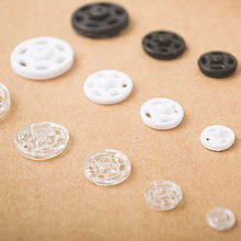 2018 New Sale Snap Button Decorative Buttons Wooden Buttons Quality Resin Press Stud Snaps Invisible Sewing Accessories 15mm(China)