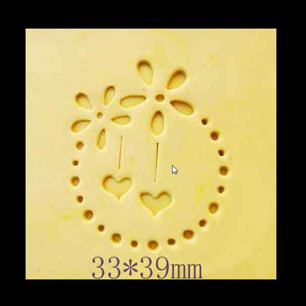 round dots and flowers pattern Handmade soap stamp mold chapter mini DIY patterns chapter