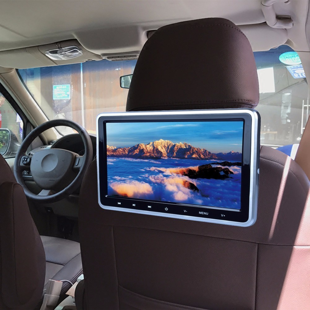 10.1 Inch 1024*600 2PCS Car Headrest Monitor DVD Player USB/SD/HDMI/FM/Game TFT LCD Screen Built-in Speaker with gaming system eincar car 9 inch car dvd pillow headrest two monitor lcd screen usb sd 32 bit game fm ir multimedia player free 2 ir headphones
