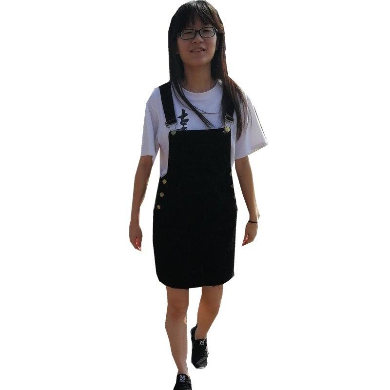 36c37d3dc9c Braces Dress Young woman Fashion Autumn 2018 Women Elegant Pockets  Suspender Dresses Corduroy Sleeveless Overalls dress Femal. 3 2 1