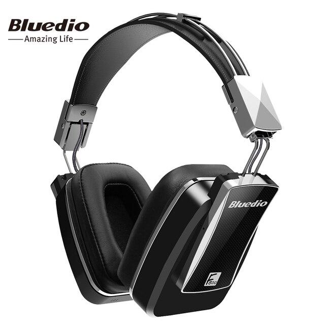 Bluedio F800 Активного Шумоподавления Беспроводные Bluetooth наушники Для АНК Издание вокруг уха гарнитура черный