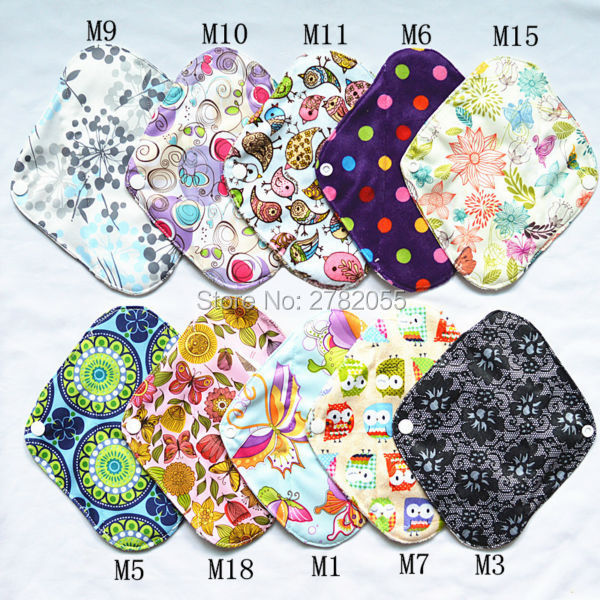 Sigzagor 30 Large L Heavy Reusable Washable BAMBOO Mama Cloth Pads Menstrual Sanitary Pad 12