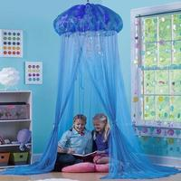 Dreamlike Girls Bed Canopy Hanging Jellyfish Shaped Dome Princess Daughter Cooling Summer Camping Mosquito Net