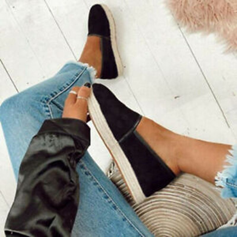 HEFLASHOR Women Flats Shoes Slip On Casual Ladies Shoes Comfortable Loafers Female Espadrilles 2019 Sneakers Lazy Flats dropship