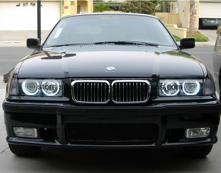 High Quality COB Led Light White Halo Cob Led Angel Eyes Ring Error Free for BMW E36 E38 E39 E46 with projector in Car Light Accessories from Automobiles Motorcycles
