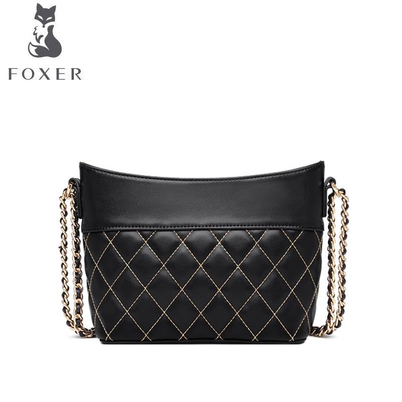 Sac Pour Cuir Sacs Lingge Mode Chaîne En Black Designer 2019 Luxe Bandoulière Nouvelles Main De À Femmes Foxer nY05wq4w