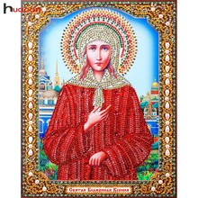 HUACAN 5D Diamond Embroidery Icon Resin Diamond With Picture Mosaic Diy Special Diamond Painting Religious Decor Home 22x28CM