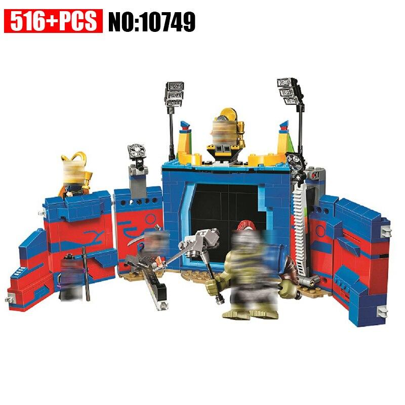 10749 Super Heróis Thor Vs. hulk: Arena Confronto blocos de construção DIY Educacional tijolos brinquedos para as crianças Compatíveis com 76088