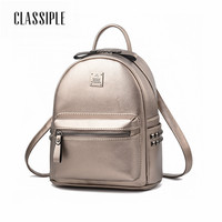 Women Leather Backpack Silver Preppy Style School Backpacks For Teenagers Bags Backpacks Women Schoolbag Backpack Bolsa Mochila