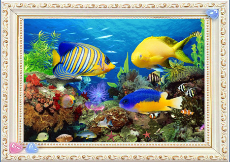 Hot 5D Full diamond painting cross stitch The underwater world diamant embroidery needle patch rhinestone mosaic