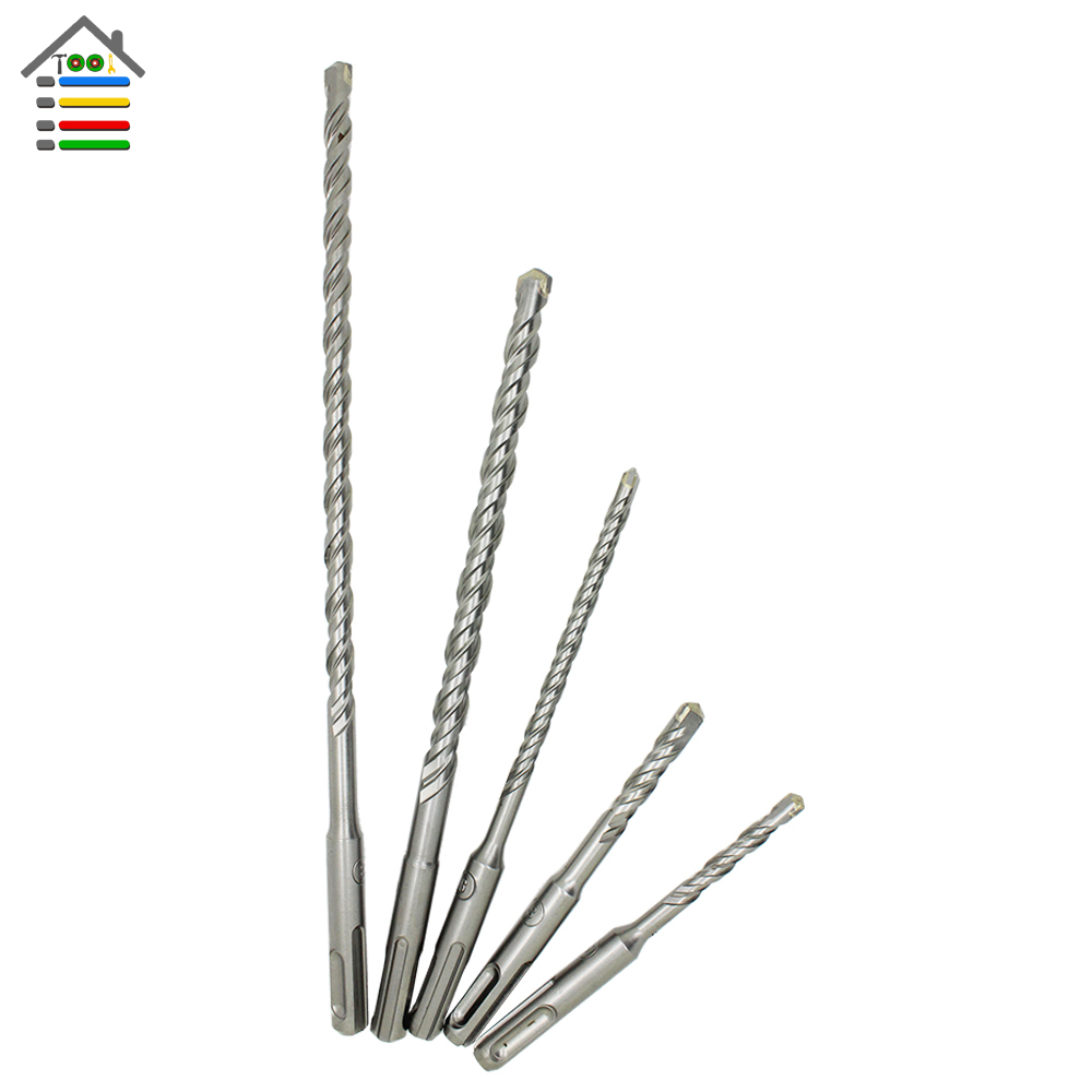 AUTOTOOLHOME 1PC 6 8 10 mm SDS Plus Hole Saw Drilling Electric Hammer Drill Bits For Wall Concrete Brick Block Masonry 1pc sds plus shank concrete cement stone wall hole saw drill bit 65mm wrench rounds alloy blade combinations